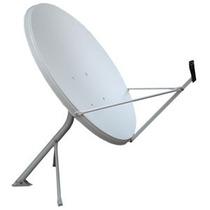 Antena Ku 100cm Melhor Q. De 90cm + Lnb Quaduplo 4 Saidas
