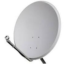 Antena 60 Cm Banda Ku+lnb Duplo Universal+20 Metros Cabos