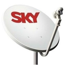 Antena 60cm Banda Ku/lnb Duplo/ 20m Cabo/kit Fixação Comp.