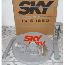 Kit 4 Antenas Banda Ku 60cm+lnbf Duplo Sky