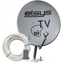 Kit Antena Parabólica Ku 90cm Oi Elsys