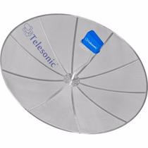 Antenas Parabólicas Cross 1,90m P/ Laje Kit Com 4 Telesonic