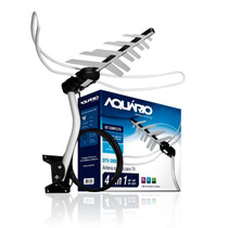 Kit Antena Externa Dtv 3000 4 Em 1 Digital Vhf Uhf Fm Hdtv