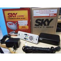 Antena Sky Livre Com 220 Canais (produto Novo )