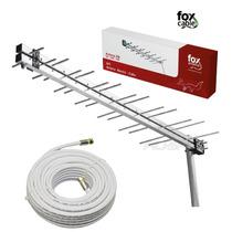 Antena Digital Externa Hd + 30m Cabo + Suporte - Nova
