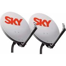 Kit Com 2 Antena Sky
