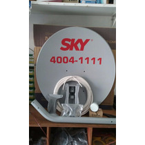 Kit Tv Sky Completo Antena 60cm