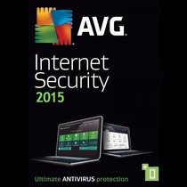Avg Internet Security 2015 3 Pcs 3 Anos Original Até 02/2018
