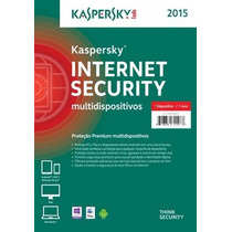 Kaspersky Internet Securitty 2015 - 3 Pcs 1 Ano