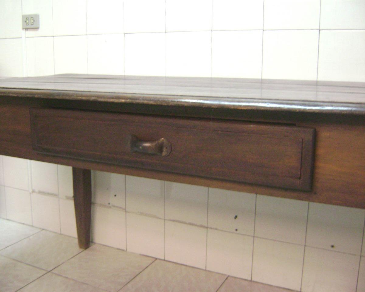Mesa Rústica Com Gaveta Madeira Nobre R$ 1.300 00 no MercadoLivre #765D43 1200x962