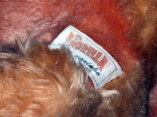 Antigo Ursinho De Pelúcia Da Fiorella Bichonhos Dos Anos 80
