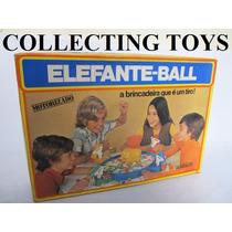 Brinquedo Antigo - Elefante Ball - Glasslite - Anos 80