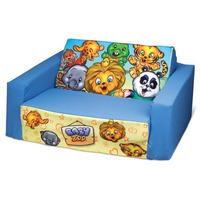 Sofá Cama Infantil Baby Zoo Azul Cortex