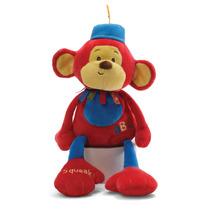Pelúcia P/bebês Circus Monkers - Macaco Chocalho - 4034109