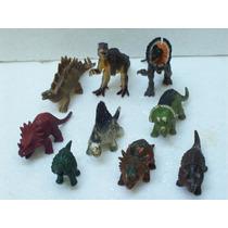 Brinquedos Antigos Bonecos Dinossauros Lote C/9 Dino Ano 90