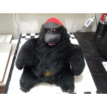 Boneco Antigo Macaco Pelucia Sucata Retirada Peças