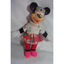 Boneca Minnie Antiga Vinil E Corpo Pano