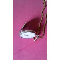 Relógio Omega De Bolso Em Plaquê De Ouro