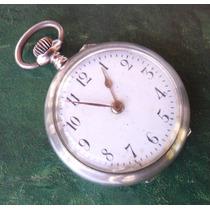 Relogio Bolso Antigo Remontoir Cylindre Prata 800