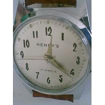 Henrys Swiss 17 Jewels Raro Dos Anos 50 - Relogio De Coleção