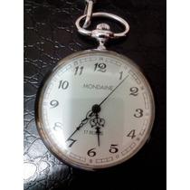 Relógio Suíço De Bolso Mondaine