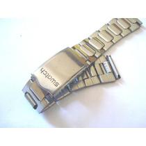 Pulseira Swatch Antiga Metal Relógio Pulso 18 Mm