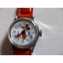 Relógio Do Mickey By Bradley Swiss Legitimo Luvas Vermelhas.