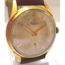 Relógio Minerva Plaquê Ouro Antigo Coleção Suiço