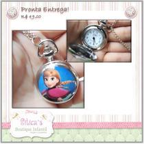 Sitica´s Colar Relógio Frozen - Ana Ou Elsa , Duas Lindas!!!