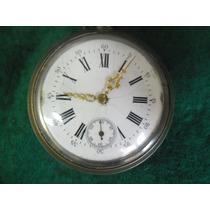 Relógio De Bolso Remontoir Antigo Revisado Colecionadores