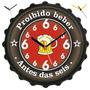 Relógio Parede Tampa Garrafa Proibido Beber