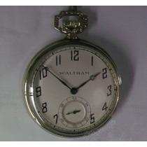 Relógio De Bolso Walthan Caixa De Níquel - Especial Coleção