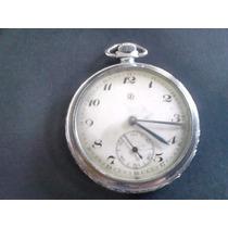 Antigo Relógio De Bolso Junghans Caixa De Aço