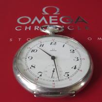 Relógio De Bolso Omega Prata Macica Gigante 56mm Antigo
