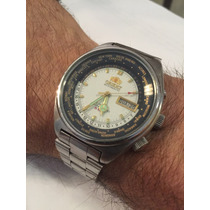 Relógio Orient Automático Hora Mundial Completo