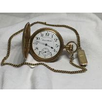 Raríssimo Relógio Antigo De Bolso Hampden - Ano 1911