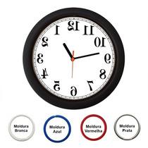 Relógio De Parede Anti Horário - Espelhado