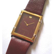 Relógio Seiko Nina Ricci Extra Fino Plaquê Ouro = Cartier