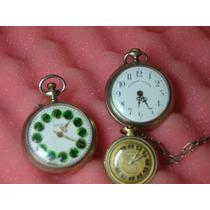 Relógios De Bolso Antigos - Lote 3 Peças