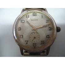 Relógio De Pulso Scott A Corda Caixa Com Banho De Ouro