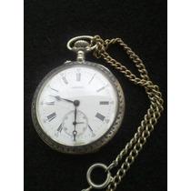 Relógio Longines De Bolso Em Prata Lindo