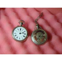 Relógios De Bolso Antigos - Lote 2 Peças