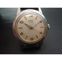 Relógio Orient Raro 21 Joias Aço Japan Antigo Coleção