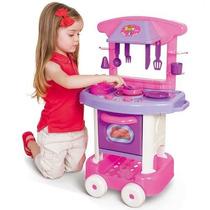Cozinha Infantil C/ Talheres E Panelinhas Play Time Cotiplás