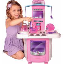 Big Cozinha Fogão Microondas Panela Brinquedo Menina Chef