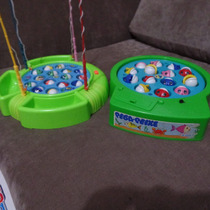 Lote De Brinquedo Pega Peixe Glasslite E 1 Outra Marca Leia+