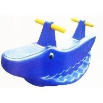 Gangorra Jacaré Balanço Infantil Azul