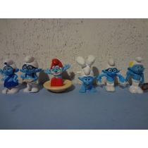 Lote Coleção 6 Bonecos Smurfs Do Mcdonald
