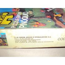 Brinquedo Antigo ,jogo Quebra Cabeça Do Pinóquio Da Grow