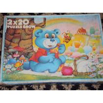 Brinquedo Antigo, Jogo Quebra Cabeça De Ursinhos Da Grow.